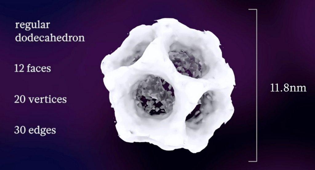 Исследователи создали и представили самоорганизующийся додекаэдр из диоксида кремния